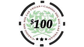 Image of a $100 Black Poker Chip Rental