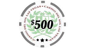 Image of a $500 Grey Poker Chip Rental