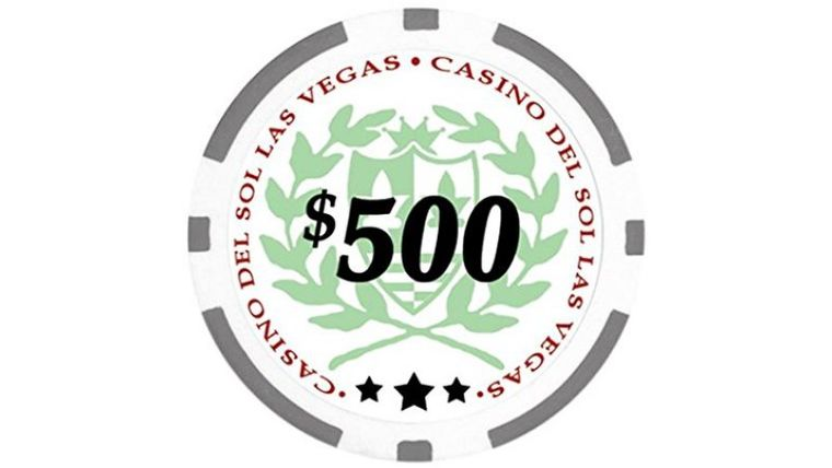 Picture of a $500 Grey Poker Chip Rental