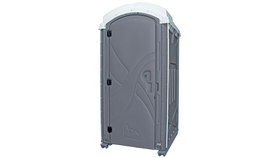Image of a Grey Axxis Portable Restroom Unit Rental