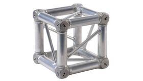 Image of a Global Truss - 6 Way F34 Silver Aluminum Corner Block Rental