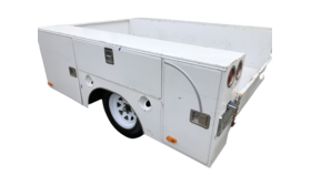 Image of a 6' x 8' Work Box Trailer Rental