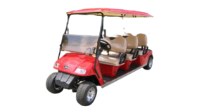 Image of a 6 Passenger Electric Powered Limo Golf Cart Rental