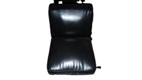 3' x 3 Black Leather Sofa image
