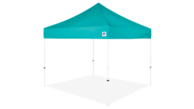 Image of a 10' x 10' Turquoise Ez Up Eclipse Pop Up Tent Rental
