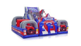 Image of a All Star Challenge Obstacle Course Inflatable Game Rental