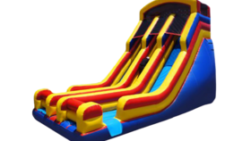 Image of a 22' Dual Lane Inflatable Dry Slide Game Rental