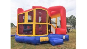 Image of a 5 N 1 Ninja Inflatable Bounce Combo Game Rental