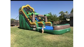 Image of a 18' Tropical Inflatable Water Slide Rental