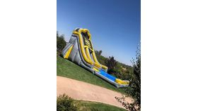 Image of a 22'H x 36'L Toxic Wave Inflatable Water Slide Rental