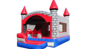 Image of a 5 n 1 Inflatable Brick Castle Combo