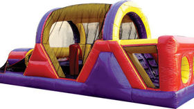 Image of a 30' x 12' Inflatable Obstacle Course Game Rental