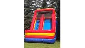 Image of a 18' Single Lane Inflatable Dry Slide Game Rental