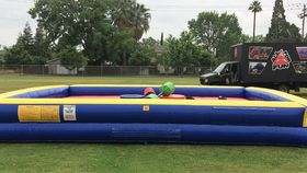Image of a Gladiator Jousting Inflatable Rental