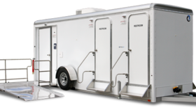 Image of a 2 Stall + ADA Executive Restroom Trailer