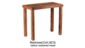 """Image of a 2' x 4' 42""""h Beechwood Table Rental"""