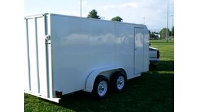 Image of a 6' W x 16' L x 6.5' H Enclosed Trailer With Ramp