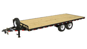 Image of a 22' Iron Panther Hydraulic Deck Over Trailer Rental