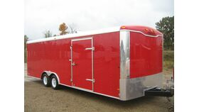 Image of a 28' x 8.5' x 7' Enclosed Car Trailer Rental