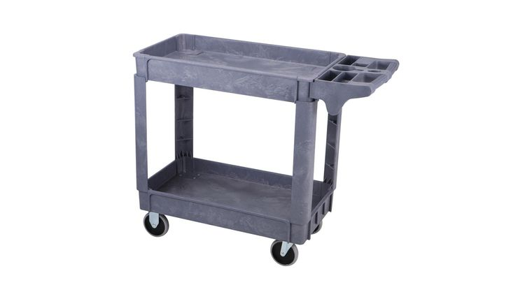 Picture of a 16 In. X 30 In. Industrial Polypropylene Service Cart