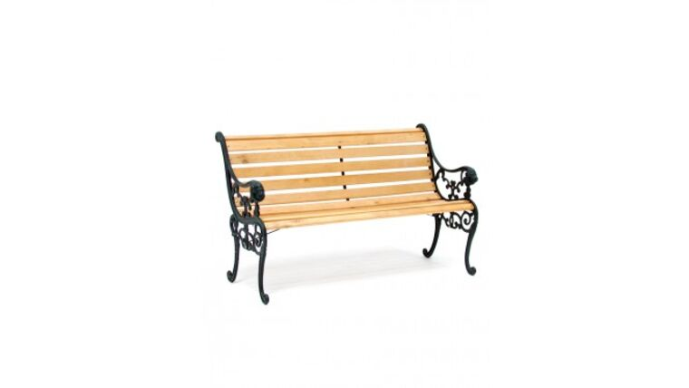 Picture of a Cast Iron Park Bench Rental