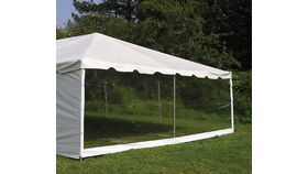 Image of a 10'H x 20'L Clear High Tent Sidewall Rental