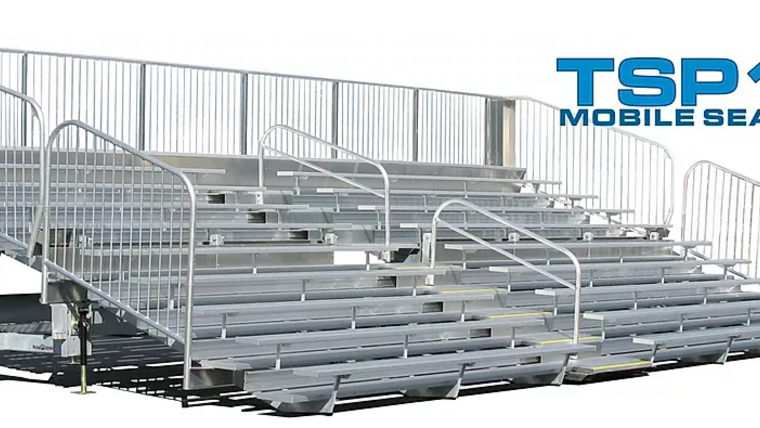 Picture of a TSP10-180 Mobile Grandstand Bleacher Trailer (Seats 156*)