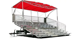 Image of a TSP 10 Mobile Grandstand Bleacher w/Canopy