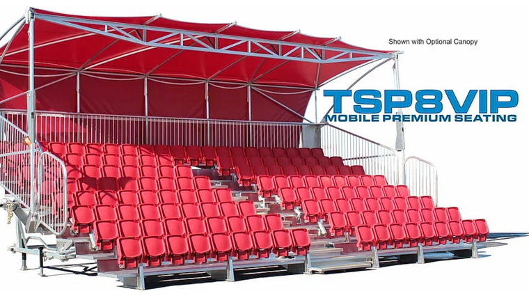 Picture of a TSPVIP8-32 Mobile Grandstand Premium Seating Trailer (Seats 147*) Rental