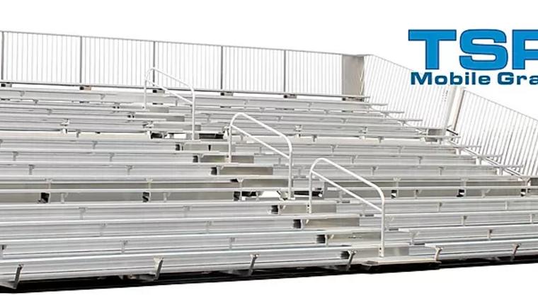 Picture of a TSP15-390 Mobile Grandstands Bleacher Trailer (Seats 352*)