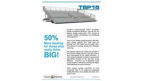 TSP15-390 Mobile Grandstands Bleacher Trailer (Seats 352*) image