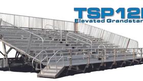Image of a TSP12E-45 Mobile Grandstands Bleacher Trailer (Seats 330*)
