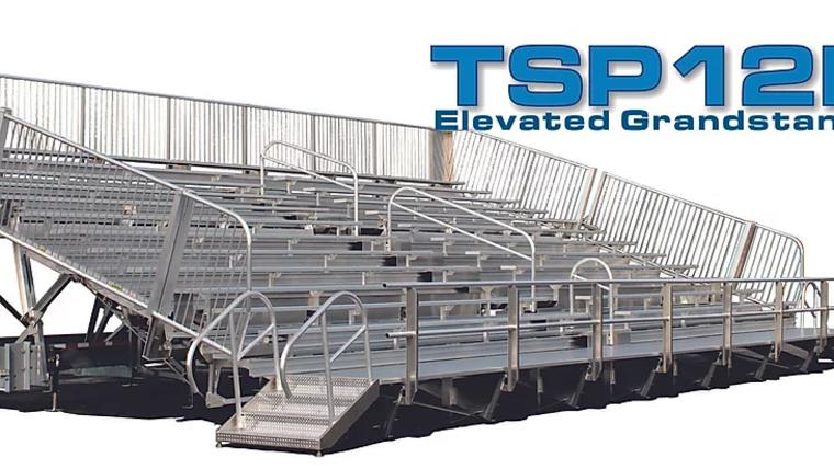 Picture of a TSP12E-45 Mobile Grandstands Bleacher Trailer (Seats 330*)