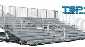 Image of a TSP10-300 Mobile Grandstand Bleacher Trailer (Seats 300*)