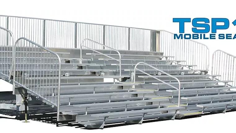 Picture of a TSP10-300 Mobile Grandstand Bleacher Trailer (Seats 300*)