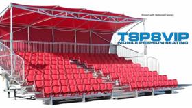 Image of a Bleacher - TSPVIP8-45 Mobile Grandstand Premium Seating Trailer (Seats 219*) Rental