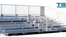 Image of a TSP8-144 Mobile Grandstand Bleacher Trailer (Seats 144*)