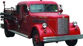 Image of a Classic Closed Cab Fire Truck Rental