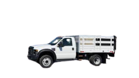 Image of a 9' Flatbed Stake Side Diesel Truck Rental