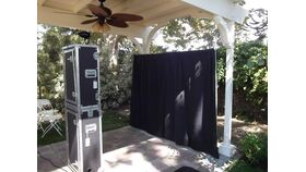 Image of a 8' x 10' Black Photo Booth Backdrop Rental