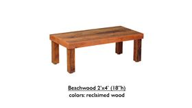 """Image of a 2' x 4' x 18"""" Beech Wood Table"""
