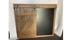 Image of a Barn Door Chalk Board