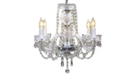 "Image of a 17""H x 17""W Swarovski Crystal Trimmed Chandelier Chandelier Dressed W/ Swarovski Crystal"