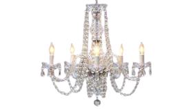 "Image of a 25""H x 24""W Empress Crystal (Tm) Chandelier Lighting"
