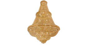 """Image of a 72"""" x 50"""" French Empire Crystal Chandelier Lighting"""