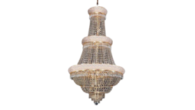 """Image of a 50""""H X 30""""W Gold French Empire Crystal Chandelier Lighting"""