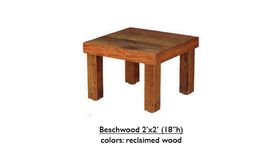 """Image of a 2' x 2' x 18""""h Beechwood Table"""