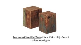 """Image of a 2' x 2' - 13""""w x 13""""d x 13""""h Beechwood Stool/End Table Seats 1"""