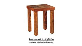 """Image of a 2' x 2' x 30""""h Beechwood Table"""