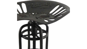 Image of a Black Cast Iron Tractor Seat Stool